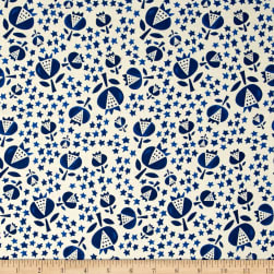 Cotton + Steel Flower Shop Thistle Indigo Fabric