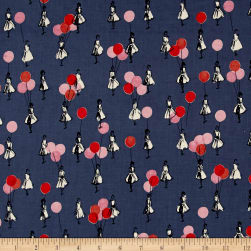 Cotton + Steel Jubilee Balloons Blue Fabric