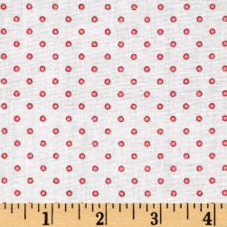 "Basically Wide 108"" Quilt Back Dots White/Pink"