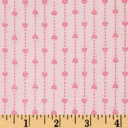 "Basically Wide 108"" Quilt Back Hearts Pink"