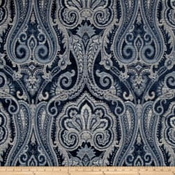 Waverly Clubroom Paisley Chenille Jacquard Luna Fabric