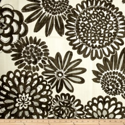 Genevieve Gorder Flower Pops Basketweave Onyx Fabric