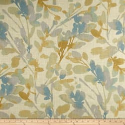 Waverly Leaf Storm Linen Mineral Fabric