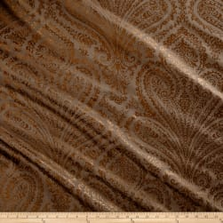 Waverly Paisley Aglow Twill Bronze Fabric