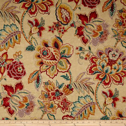 Waverly Sri Lankan Rose Sateen Marsala Fabric