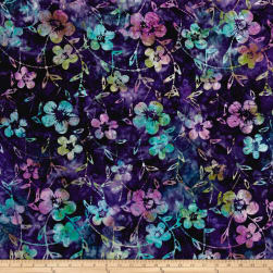 Indonesian Batik Dogwood Purple Fabric