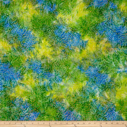 Indonesian Batik Daliah All Aover Green Fabric