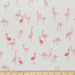 Dear Stella Jersey Knit Flamingoes Bay Fabric