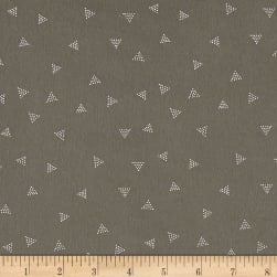 Dear Stella Jersey Knit Triangle Dot Fossil Fabric