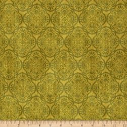 Timeless Treasures Exotic Tonal Medallion Pea Fabric