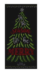 "Timeless Treasures Be Merry 23"" Chalkboard Tree Panel Multi"