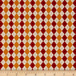 No Fowl Play Argyle Texture Tan Fabric