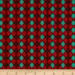 No Fowl Play Argyle Texture Red