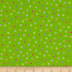 Fangtastic Glow In The Dark Dots Green Fabric