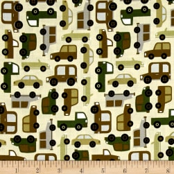 Michael Miller Traffic Jam Traffic Jam Cream Fabric