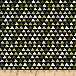 Michael Miller Traffic Jam Little Peaks Black Fabric