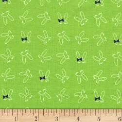 Michael Miller Front Yard Bowtie Bunny Grass Fabric