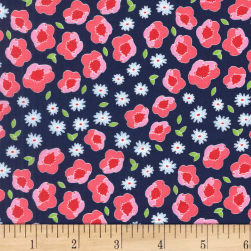 Michael Miller Front Yard Flower Edging Blueberry Fabric