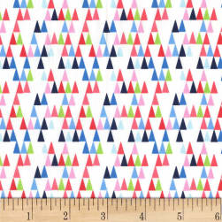 Michael Miller Front Yard Long Triangles Blueberry Fabric