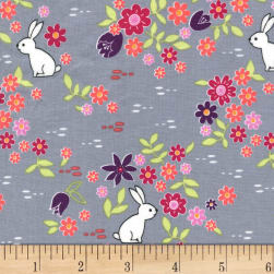 Michael Miller Front Yard Bunny Tracks Cloud Fabric