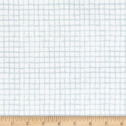 Michael Miller Tweet Me Pretty Grid Haze Fabric