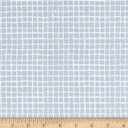 Michael Miller Tweet Me Pretty Grid Gray Fabric