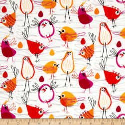 Michael Miller Flannel Robin In The Hood Coral