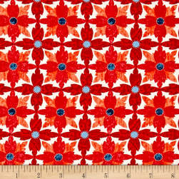 Michael Miller Indian Summer Tea Flower Paprika Fabric