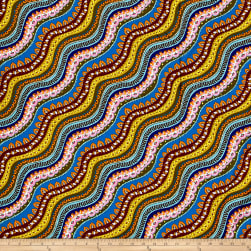 Michael Miller Indian Summer Gypsy Stripe Jewel Fabric