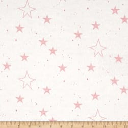 Michael Miller Flannel Sarah Jane Magic Lucky Stars Pink Fabric