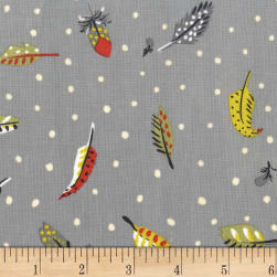Michael Miller Sandpipers Feather's Fly Stone Fabric