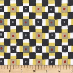 Michael Miller Sandpipers Square Dance Ebony Fabric
