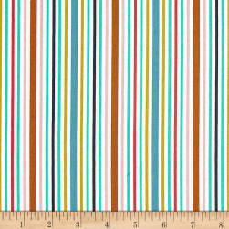 Michael Miller Bake Shop Awning Stripes Cupcake