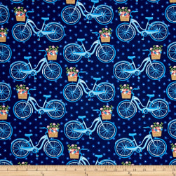 Michael Miller Saturday Morning Farmer's Market Navy Fabric
