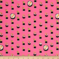 Michael Miller Bento Box Maki Salmon Fabric