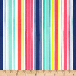 Andover Fantasy Multi Stripe Pink Fabric