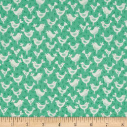 Fantasy Birds Teal Fabric
