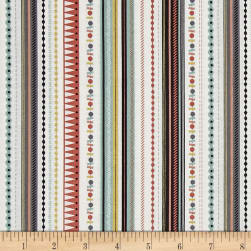 Modern Metallic Christmas Modern Metallic Stripe Silver Fabric