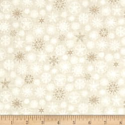 Scandi 4 Snowflakes Cream