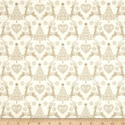 Scandi 4 Set Reindeer Cream Fabric