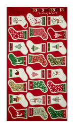 Traditional Metallic Christmas Stockings 23.5