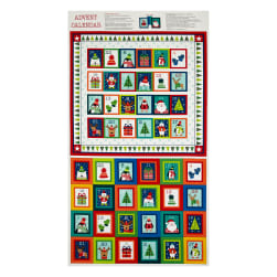 "Novelty Christmas Advent Calender 23.5"" Panel Bright"