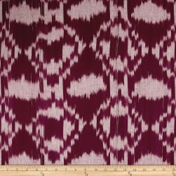 Dream Weaves Ikat Diamond Red Fabric