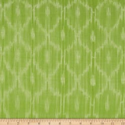 Dream Weaves Ikat Net Green Fabric