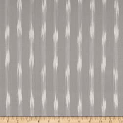 Dream Weaves Ikat Q-Tip Dark Gray Fabric