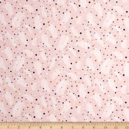 Forest Talk Pine Dots Pink Fabric