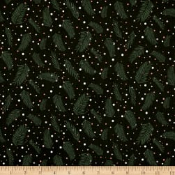 Forest Talk Pine Dots Green Fabric