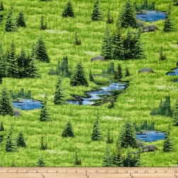 Oh Deer! Scenic Green Fabric