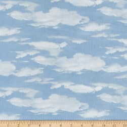 Oh Deer! Sky Allover Light Blue Fabric