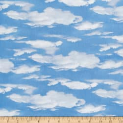 Oh Deer! Sky Allover Dark Blue Fabric